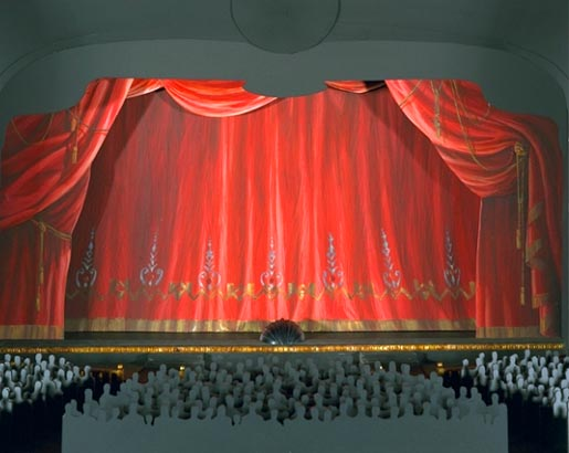 Proscenium and curtain