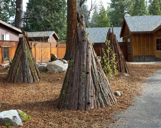 Tee pee play area