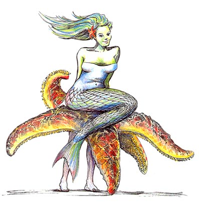 Mermaid concept drawing