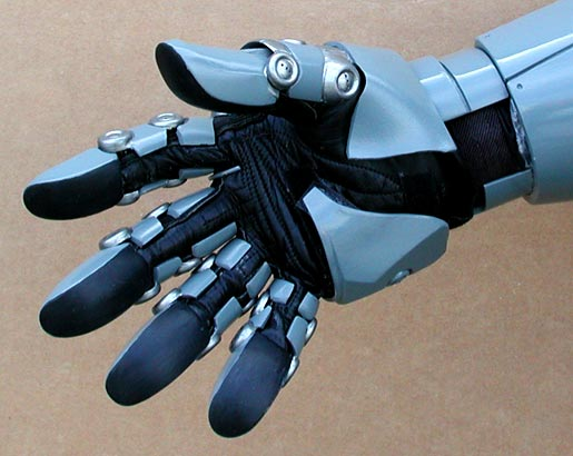 Mechanical glove palm detail